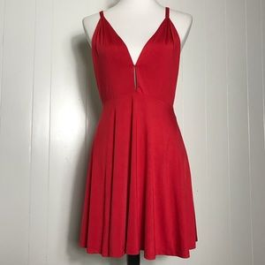 NBD x the NAVEN Twins Red Mini Dress Open T Back S